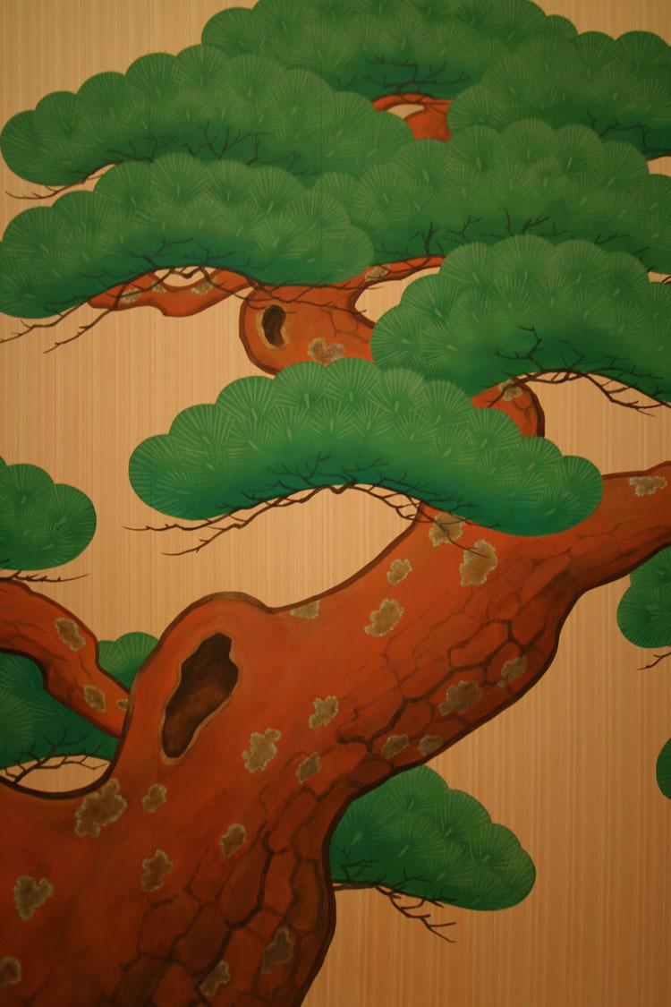 松竹株式会社_壁画 施工例 | 染色和紙の通販と壁画制作 オーエヌオー株式会社